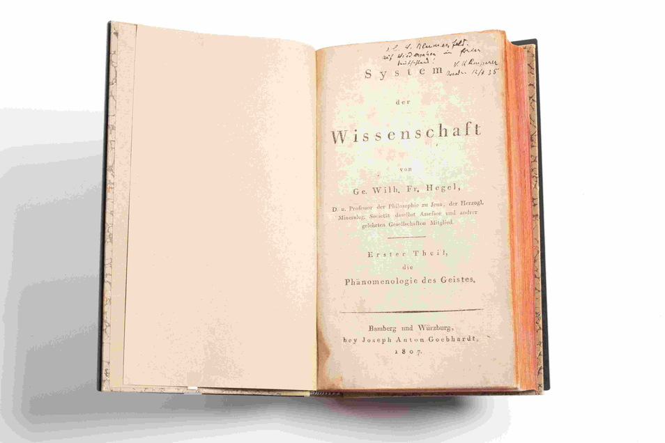 """Diese ganz besondere Erstausgabe von Hegels """"Phänomenologie"""" war ein Abschiedsgeschenk."""