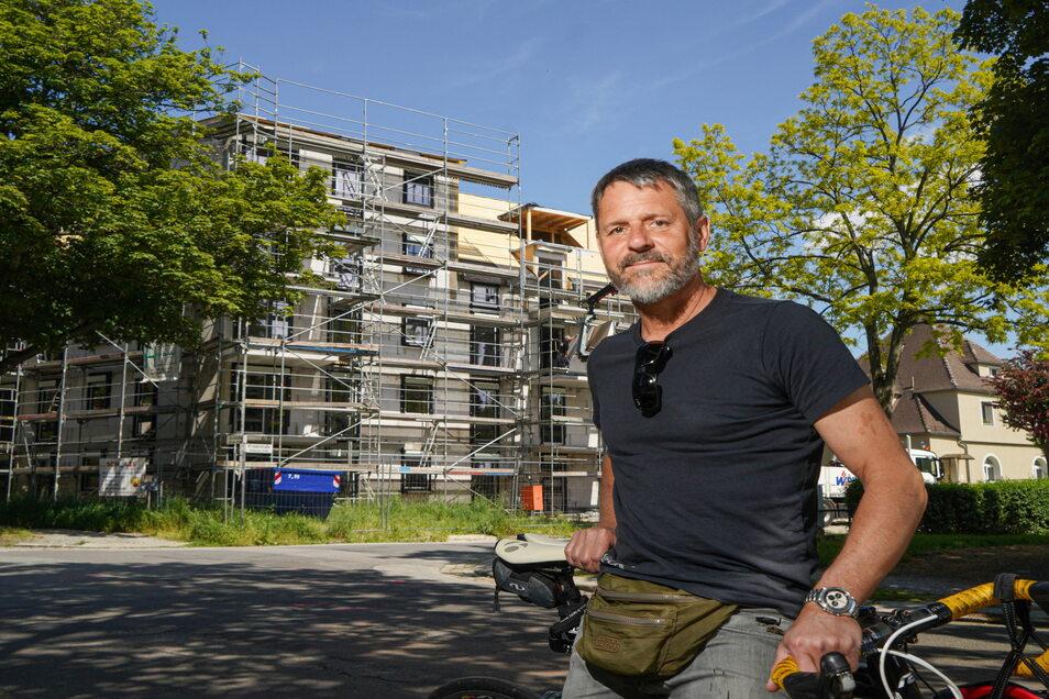 Silvio Bjarsch ist Bauherr, Investor, Bauleiter und künftiger Vermieter eines modernen Wohnhauses an der Ecke Löhr-/Klosterstraße in Bautzen.