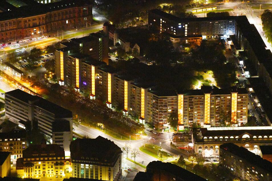Viel Licht: Häuser der Wohnungsgenossenschaft Johannstadt in Dresden. Der scheidende Verbandschef Axel Viehweger rät jungen Leuten, in kleineren Städten der Umgebung ihre Familien zu gründen.