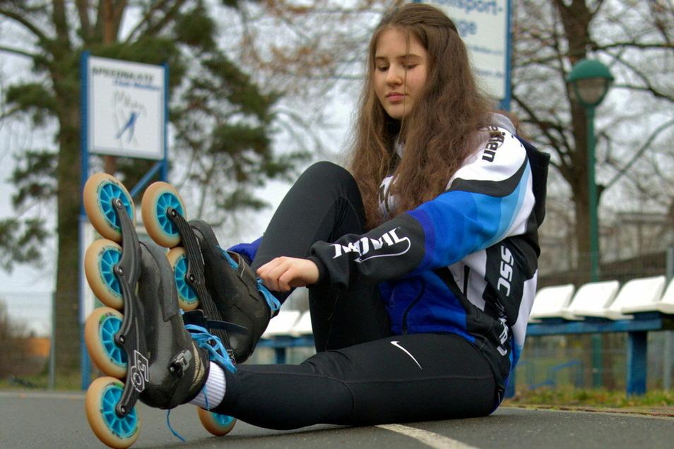 SCM-Rollsportlerin Victoria Krause hat großen Anteil an der Entstehung, Organisation, Promotion und Durchführung der Kilometer-Challenge.