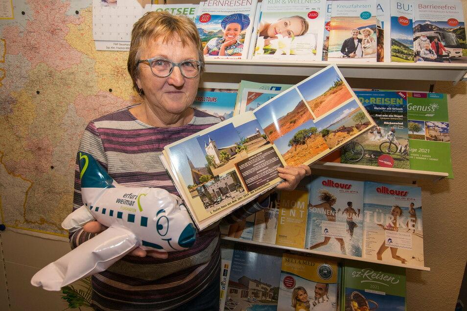 Heidrun Bernhardt hat 28 Jahre lang für Kunden aus der Region Hartha Reisen in die ganze Welt gebucht. Jetzt schließt sie ihr Reisebüro.