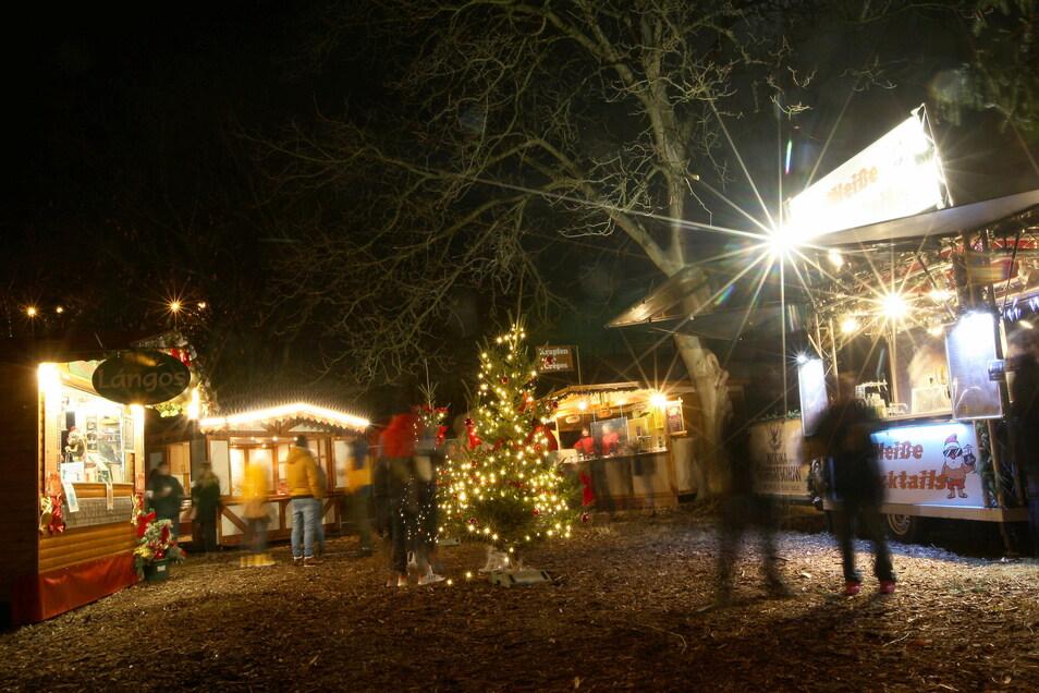 """Der """"Winterzauber to go"""" in Pirna-Copitz hatte nur drei Tage auf, dann musste er schließen."""