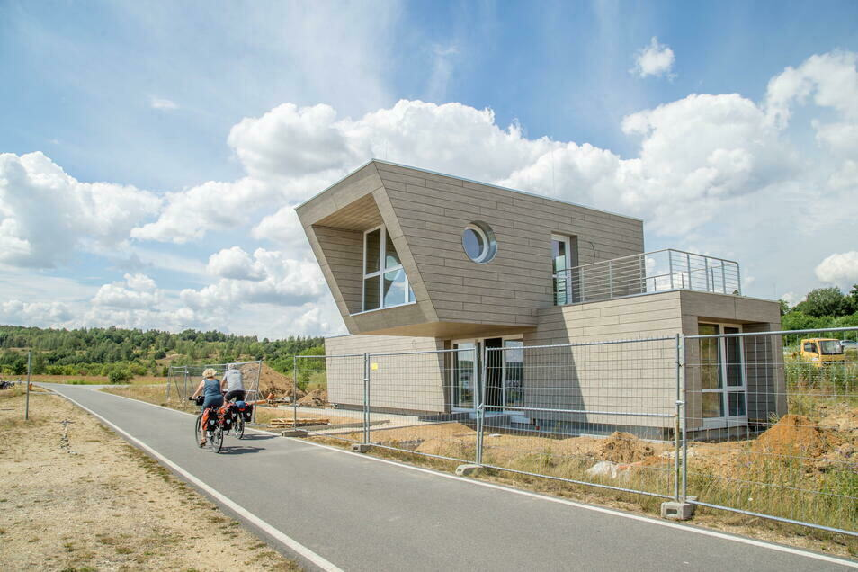 Die neue Rettungswache am Nordstrand des Berzdorfer Sees - hier eine Aufnahme vom vergangenen Sommer.