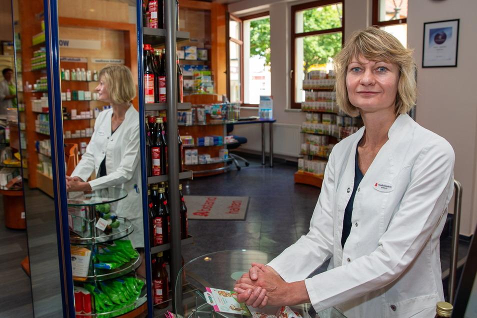 Apothekerin Claudia Benedickt hat für das Heidenauer Zentrum gekämpft und wird das auch weiterhin, nur nicht mehr im Verein und als deren Vorsitzende.