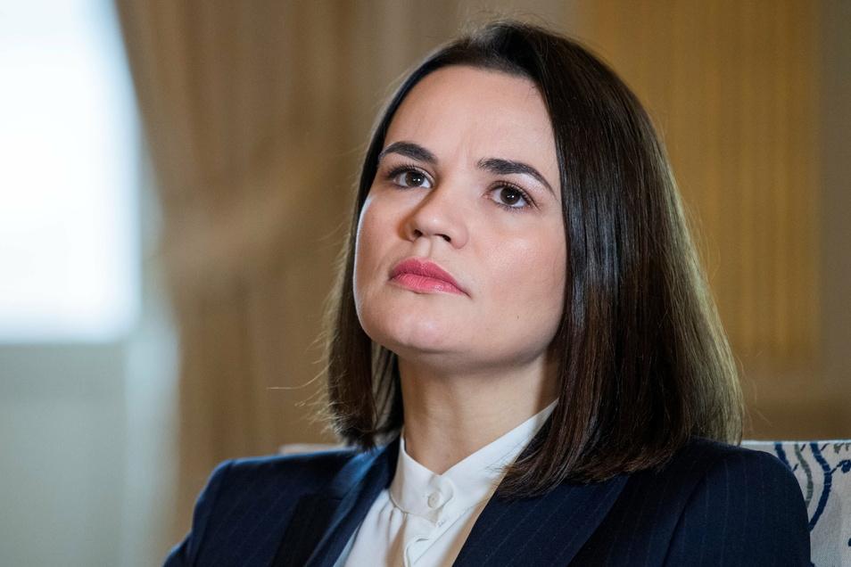"""""""Ja, es sieht im Moment so aus, als hätten wir verloren"""": Oppositionsführerin Swetlana Tichanowskaja aus Belarus."""