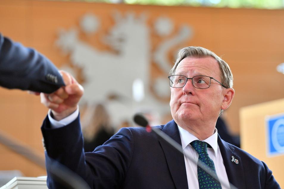 Bodo Ramelow (Die Linke), Ministerpräsident von Thüringen, fehlen vier Stimmen zur Mehrheit seiner Koalition.
