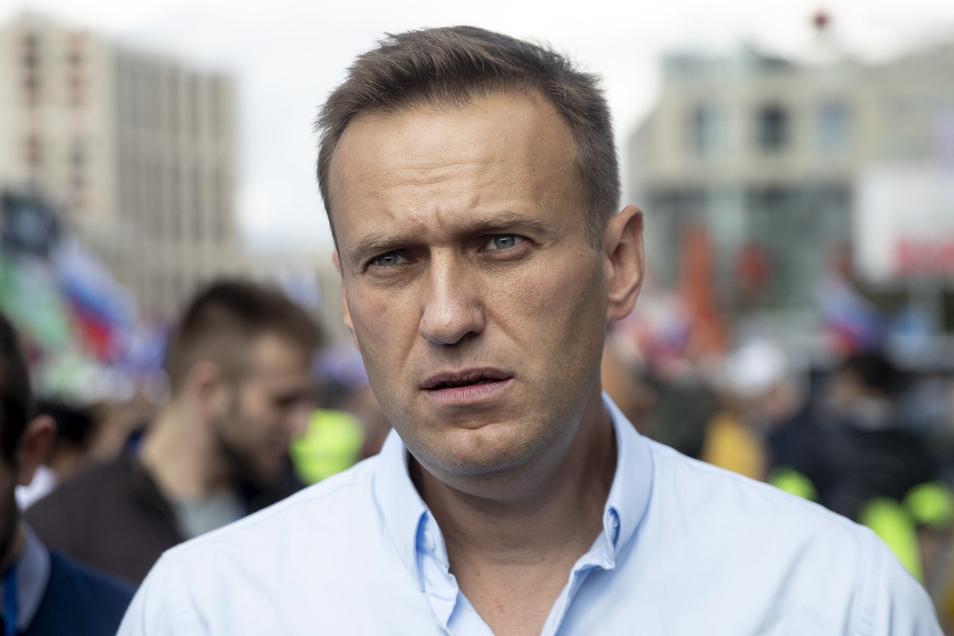 """Laut der Bundesregierung ist der chemische Nervenkampfstoff Nowitschok bei Alexej Nawalny - hier auf einem Archivbild - """"zweifelsfrei"""" nachgewiesen worden."""