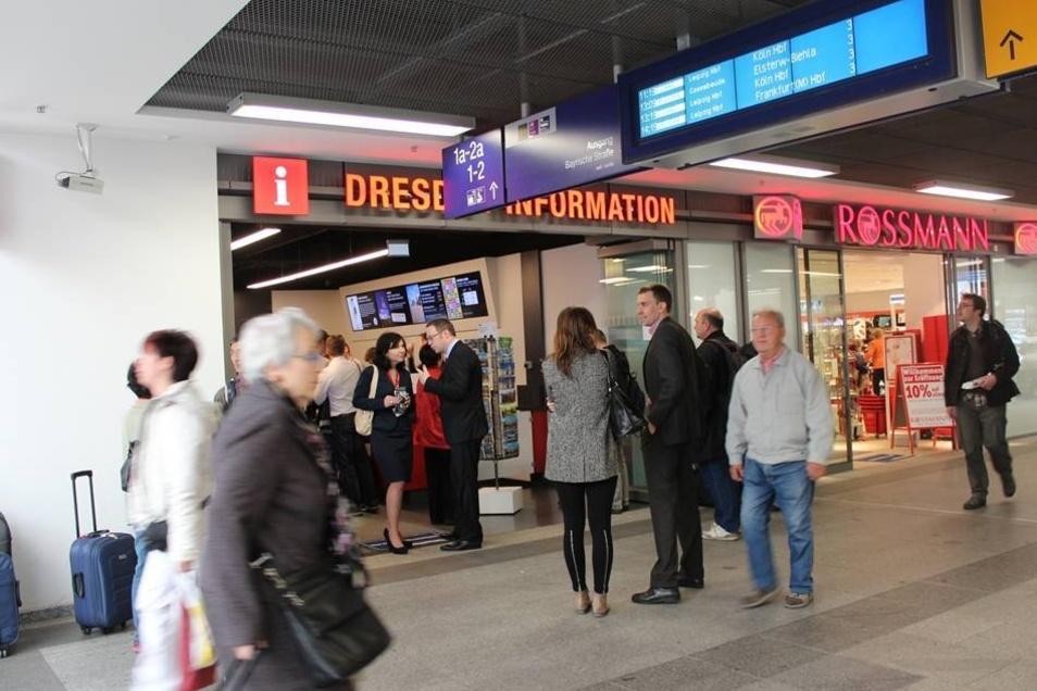 Auch die Dresden-Information ist hier vertreten.