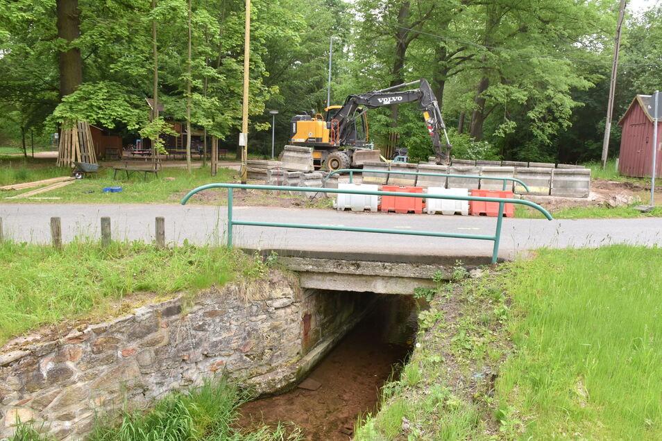 Die Brücke an der Reinhardtsgrimma wird in diesem Jahr erneuert.
