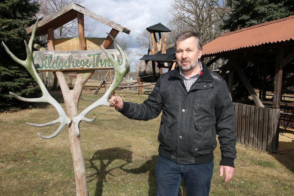 Gehen die Lockerungen der coronabedingten Einschränkungen weiter, will Joachim Mitschke seinen Freizeit-, Wild- und Campingpark in Thräna zu Himmelfahrt öffnen.