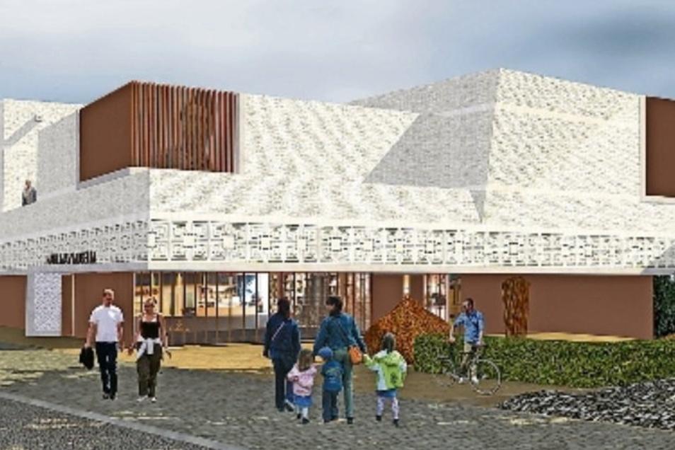 Auch dieser Entwurf für den geplanten Neubau am Karl-May-Museum ist vom Büro von Frank Mehnert und Dirk Georgi.