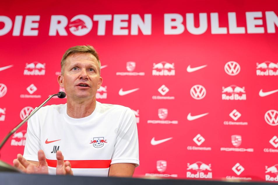 """Jesse Marsch, der neue RB-Trainer, sagt, es sei für ihn """"schon damals in New York mein Traum gewesen, Trainer in Leipzig zu sein""""."""