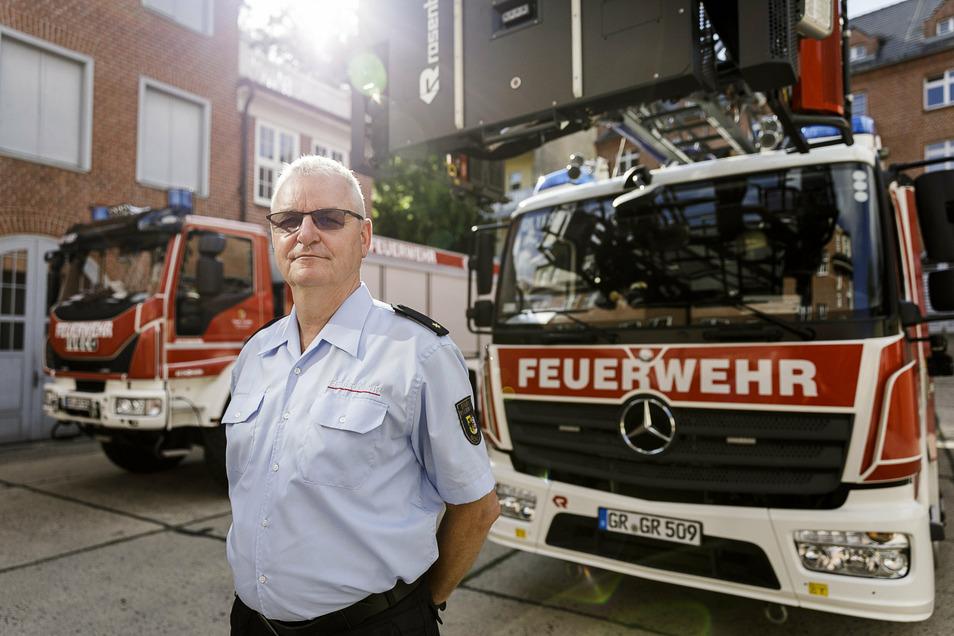 Seit 25 Jahren ist Uwe Restetzki Gemeindewehrleiter und Leiter der Berufsfeuerwehr Görlitz.