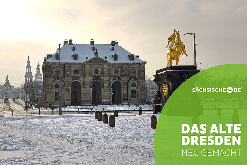 Am Neustädter Markt lebt das barocke Dresden weiter, unter anderem in Form des Blockhauses.