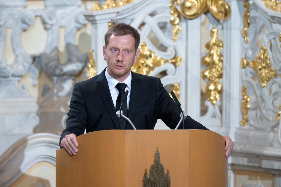 """Biedenkopf sei ein Demokrat gewesen, """"der immer für den Ausgleich eingetreten ist"""", sagte Sachsens Ministerpräsident Michael Kretschmer (CDU)."""