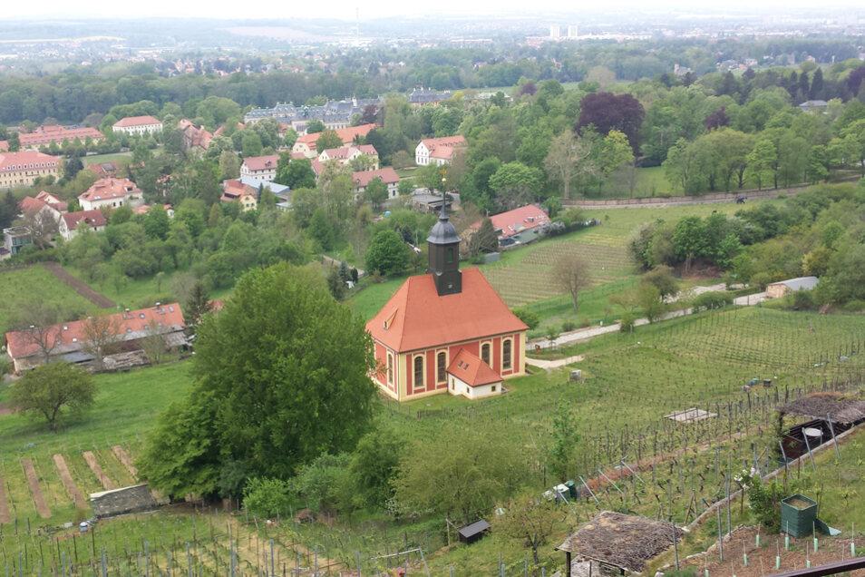 Die Weinbergkirche, die nach einem Entwurf von Matthäus Daniel Pöppelmann gebaut wurde.
