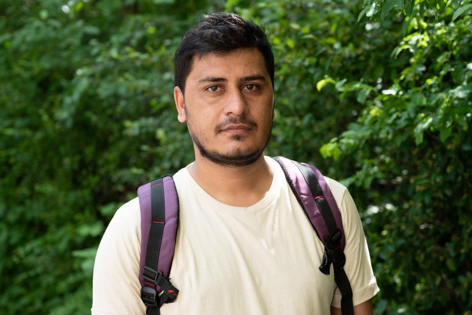 Bewohner Muhammad Kashif (28) aus Pakistan musste schon oft in Quarantäne.