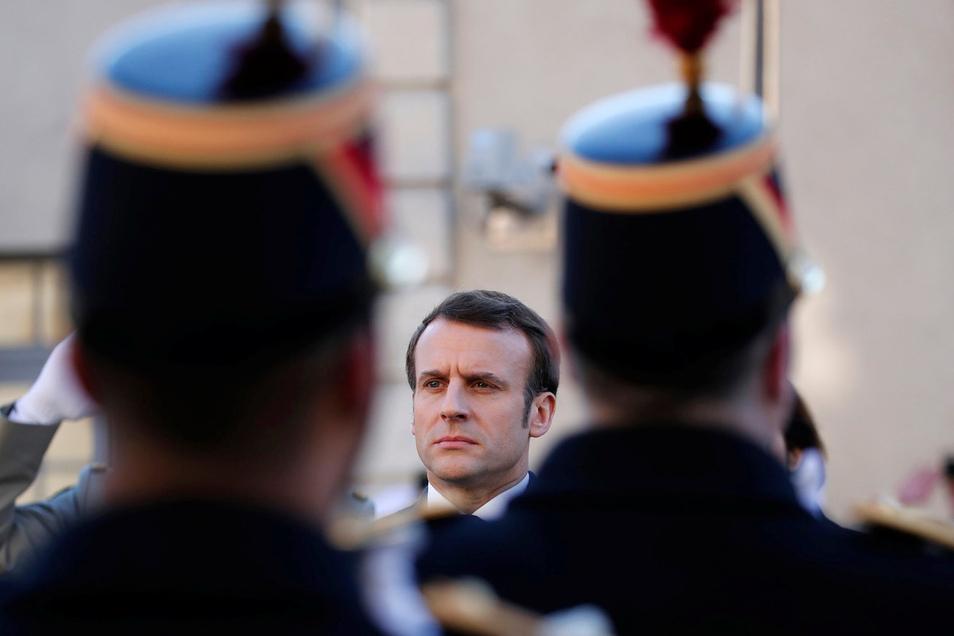Frankreichs Präsident Emmanuel Macron baut auf die Abschreckung der Atomwaffen im Land.