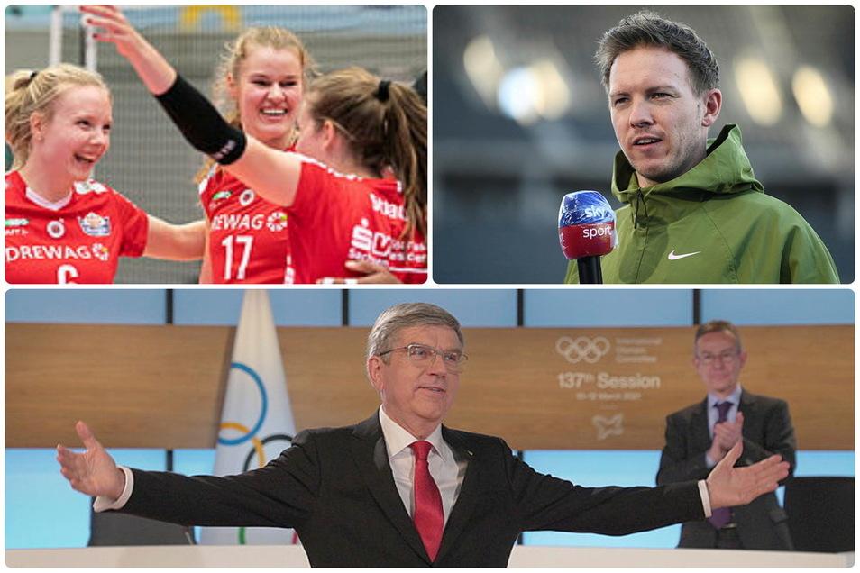 Der Sportmittwoch aus (fast) sächsischer Sicht: die Vertragssituation bei den DSC-Frauen, RB-Trainer Nagelsmann zur Causa Löw und eine wiedergewählter Präsident.