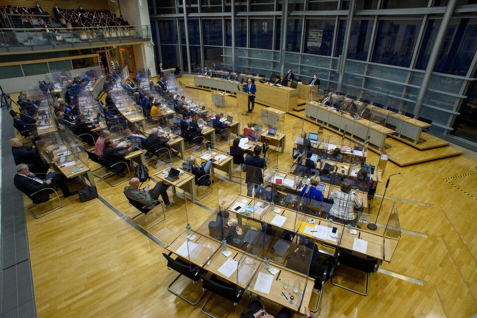 Blick in den Landtag in Magdeburg.