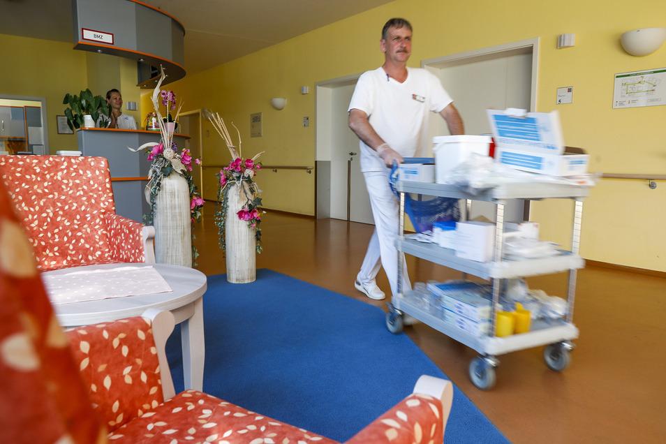Im Pflegeheim Niederoderwitz, hier ein Blick in die Wachkomastation, gibt es offenbar große personelle Probleme.