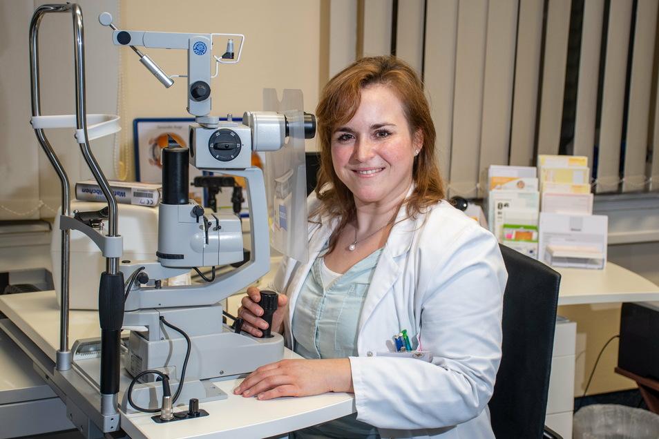 Elisabeth Oehmichen ,ist eine der beiden Ärztinnen, die im Januar ihre Arbeit in der Augenarztpraxis im Medizinischen Versorgungszentrum an der Muldenstraße in Döbeln aufnehmen.