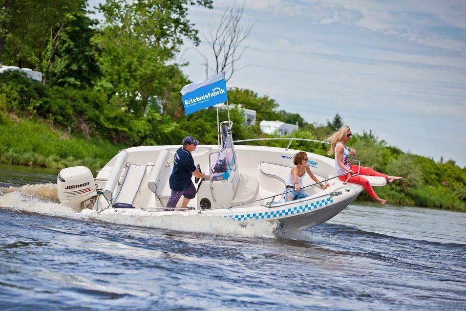 Wendemanöver bei der Speedboottour
