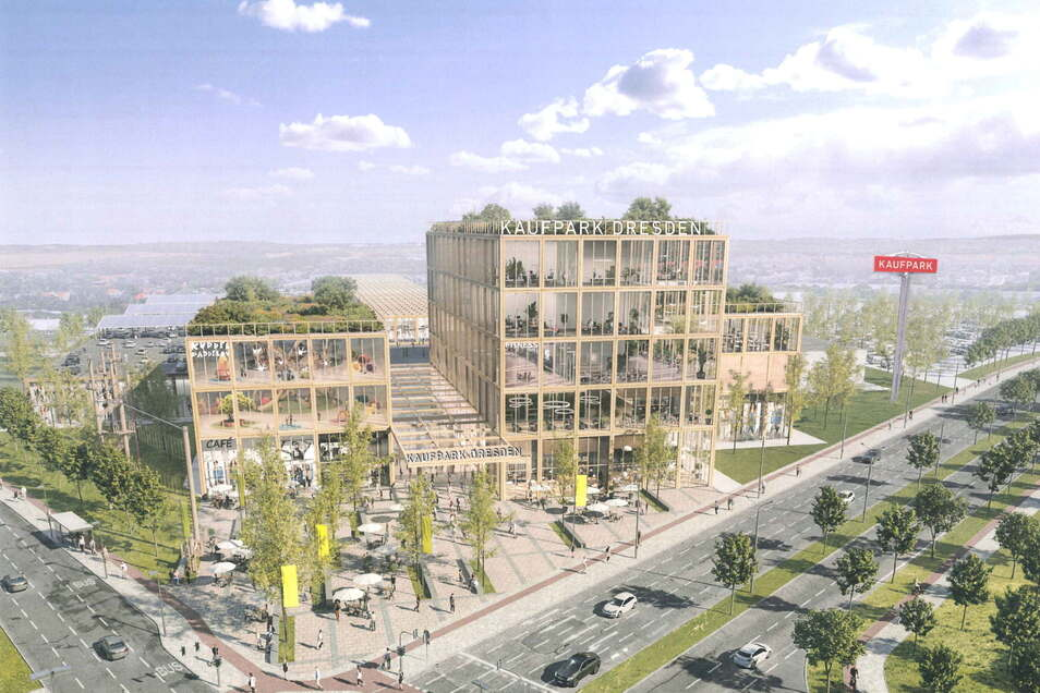 Visualisierung des neuen Kaufparks in Nickern.