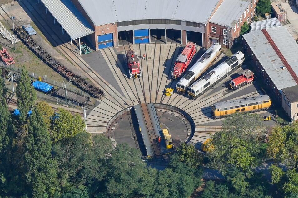 Fahrzeuginstandhaltungswerk der Deutschen Bahn in Cottbus.