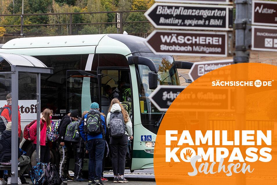 Mit dem Bus zur Schule: Im Großraum Königstein müssen Kinder und Jugendliche oft lange Fahrtwege in Kauf nehmen.