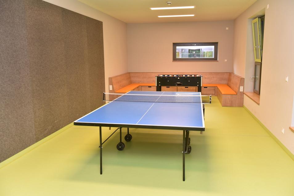 Hier kann man künftig Tischtennis spielen.