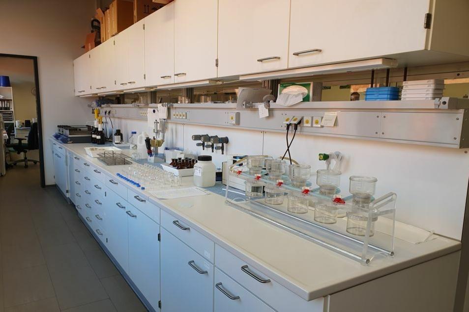 Eines der Laboratorien in Nossen