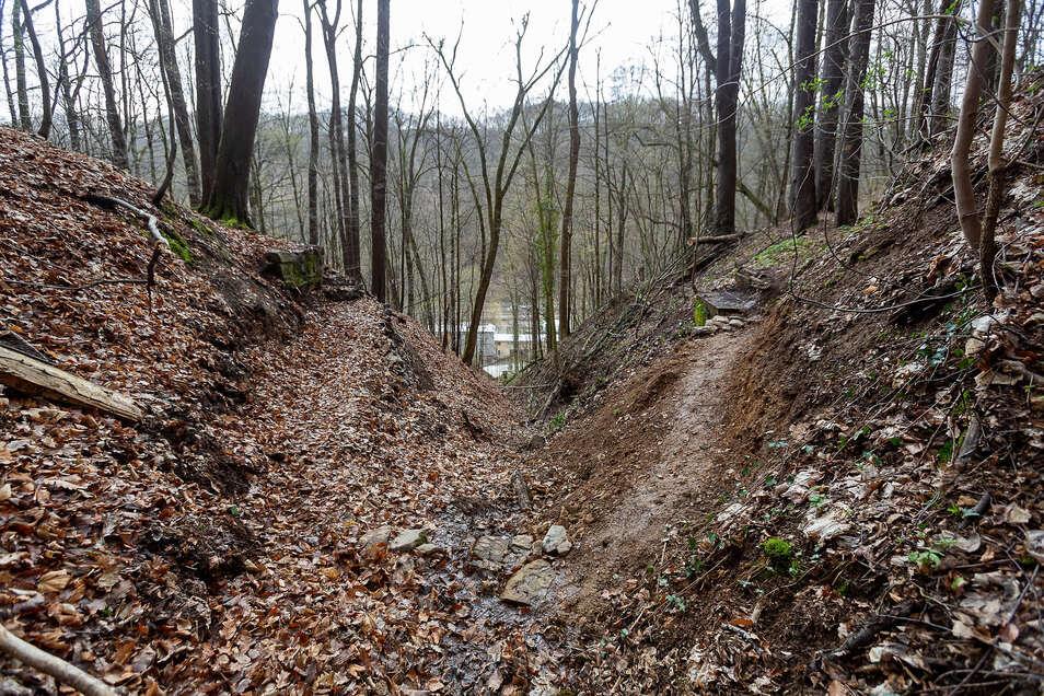 Stufen statt Brücke: Der Brüderweg ist wieder begehbar.