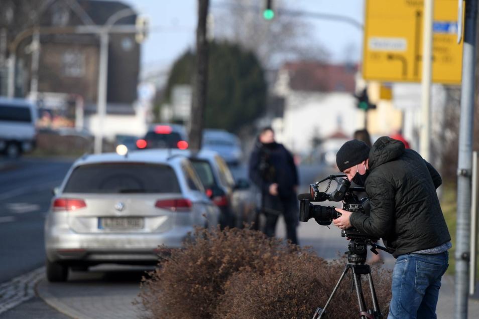 Nach dem Videoforum am Dienstag und den Aussagen von Chefarzt Mengel ist das Krankenhaus deutschlandweit in den Schlagzeilen. Hier dreht ein Filmteam von RTL am Zittauer Klinikum.