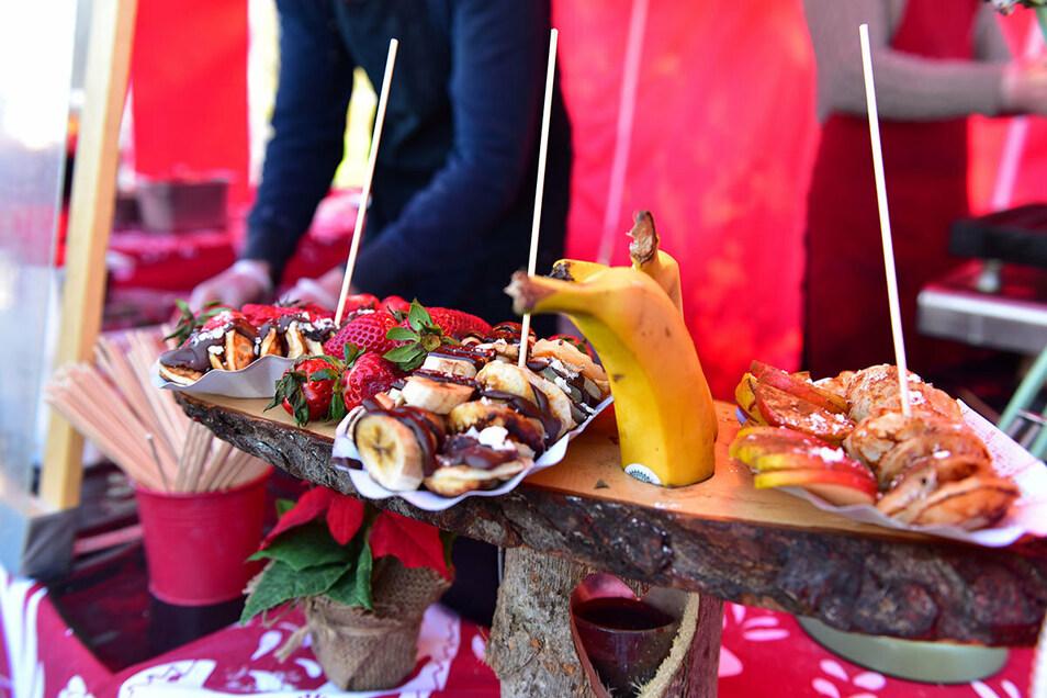 Speisen aus aller Welt locken auf den Marktplatz nach Mittweida.