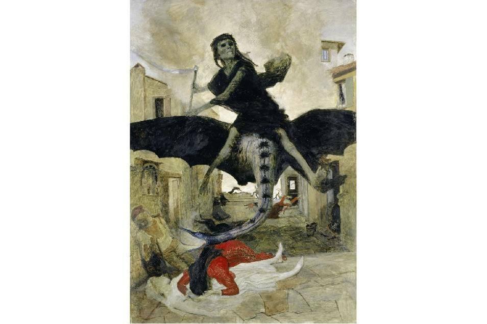 """Arnold Böcklin """"Die Pest"""" 1898, Wikipedia"""