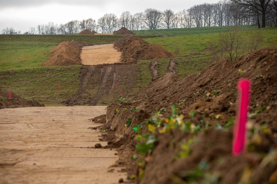 Die Vorbereitungen für den scharfen Baustart an der Ortsumgehung Wünschendorf laufen weiter. Als nächstes werden Bäume gefällt.