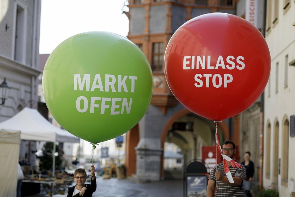 """Der Schlesische Tippelmarkt war das einzige größere Görlitzer Fest 2020. Trotz der Bedingungen, fühlten viele Besucher hier ein Stück """"Normalität"""" zwischen den Lockdowns."""