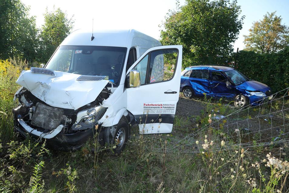Bei diesem Unfall wurden drei Personen verletzt