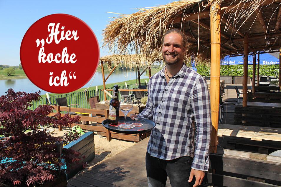 """Norman Krebs betreibt seit 2014 das karibische Restaurant """"Barbados"""" im ehemaligen Nünchritzer Elbgasthof."""