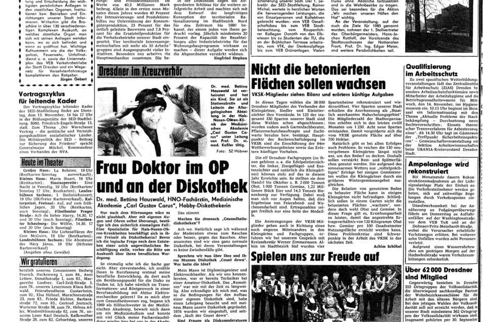 Bereits 1984 berichtete die SZ über Bettina Hauswald und ihr Hobby als DJ.