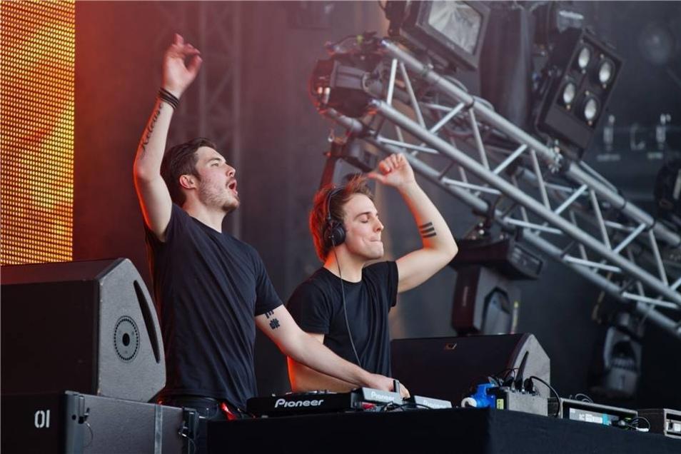 Das DJ-Duo Third Party aus dem britischen Essex supportete David Guetta.