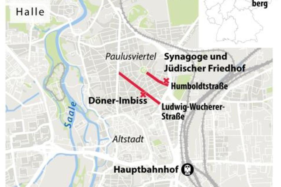 Die Tat wurde im Nordosten von Halle/Saale verübt.