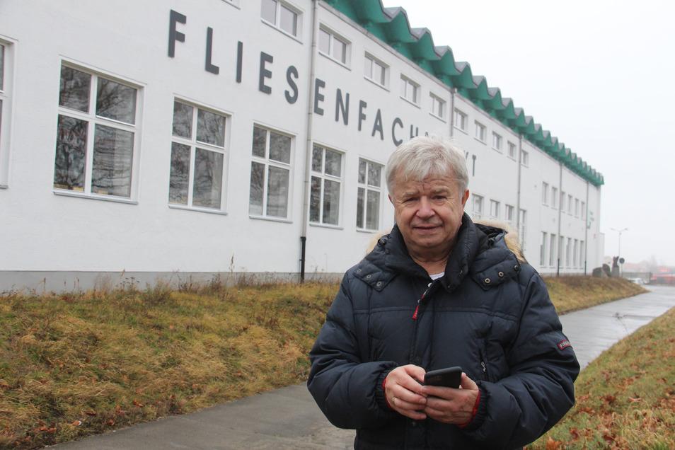Detlef Kahl, der Präsident des Vereins Tanzszene Bautzen, freut sich: Bald können die Tänzer im Gebäude an der Zeppelinstraße in neuen Ballettsälen trainieren.