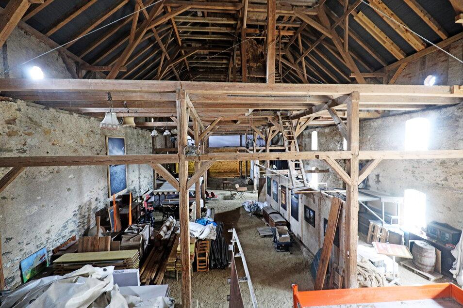 Nach dem Umbau soll die Scheune auch für Hochzeiten und Firmenveranstaltungen nutzbar sein. Geplant ist auch der Einbau einer kleinen Empore.