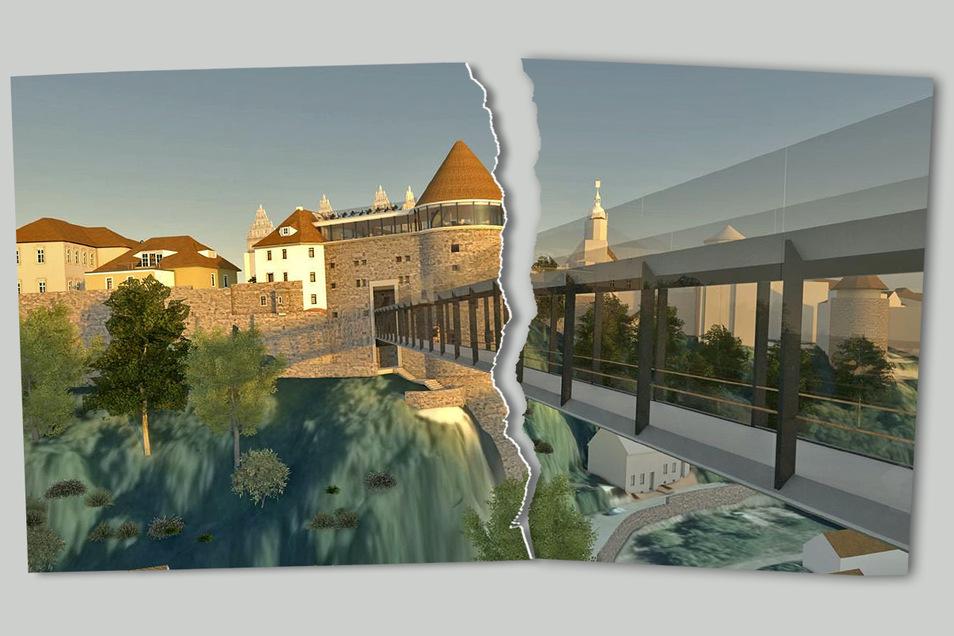 Gescheiterte Vision für eine neue Spreequerung in Bautzen: Lange Zeit war das Modell einer Fachwerkbrücke der Favorit der Stadt. Doch nun ist es vom Tisch.