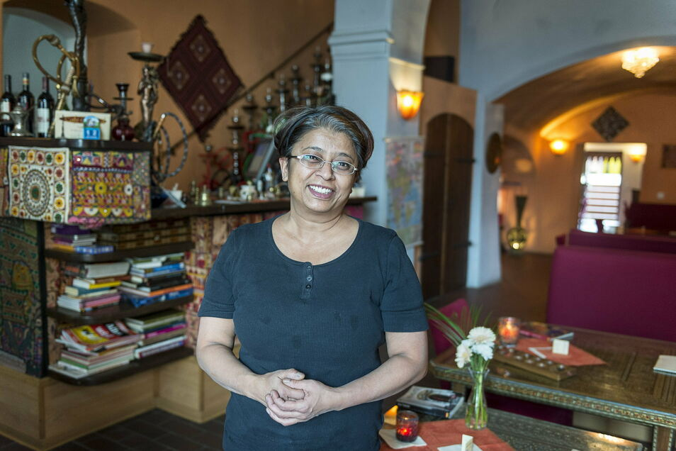Vor 14 Jahren eröffnete Uma Zimmermann ihr Café Oriental. Damals entdeckte sie eine Nische und fand dafür ihr Publikum. Dieses Foto entstand zum zehnjährigen Bestehen des Cafés.
