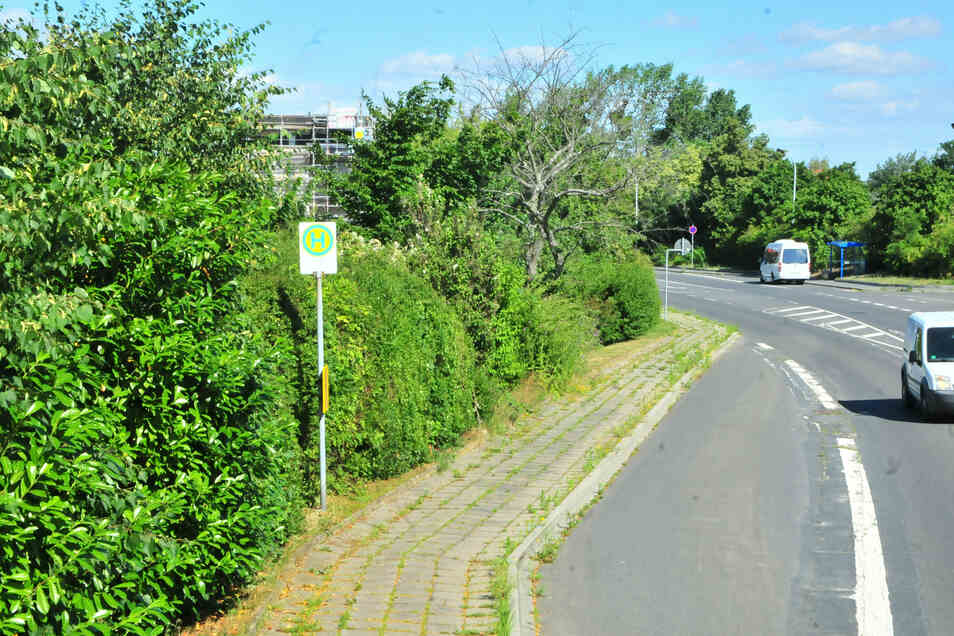 Noch ist der Bus-Stopp an der Weßnitzer Straße nichts Besonderes. Doch das wird sich bald ändern.