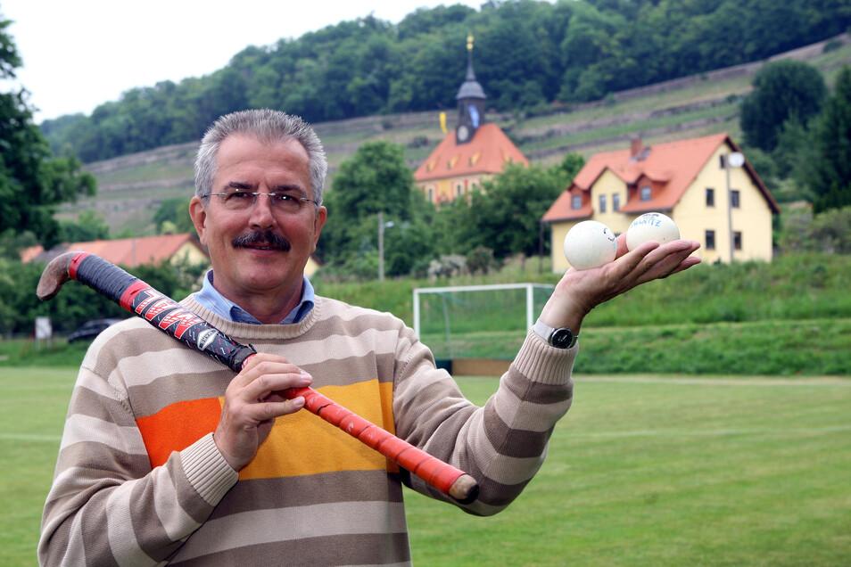 Klaus Pietzsch gehört zu denen, die Hockey in Dresden am Laufen halten - und das schon seit 1975.