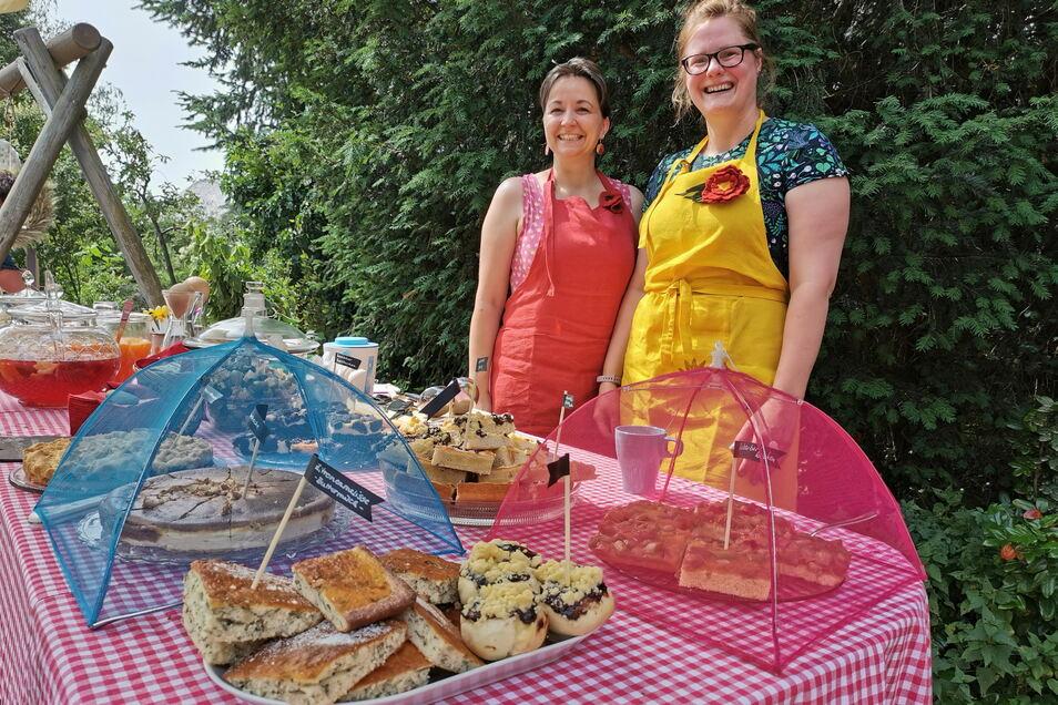 Diese fleißigen Helferinnen kümmerten sich um das gastronomische Angebot im Hilsberg-Garten in Biehla.